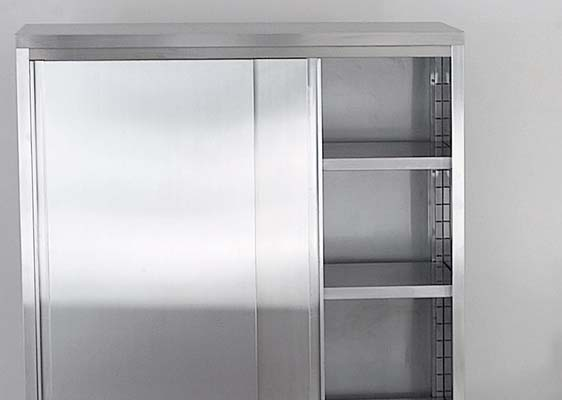 Accessories for stainless steel cabinets