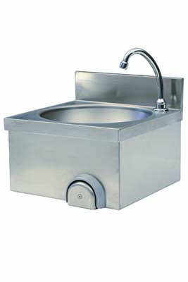 Stainless steel suspended hand-rinse basin