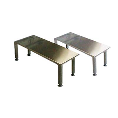 Stainless steel gowning room bench