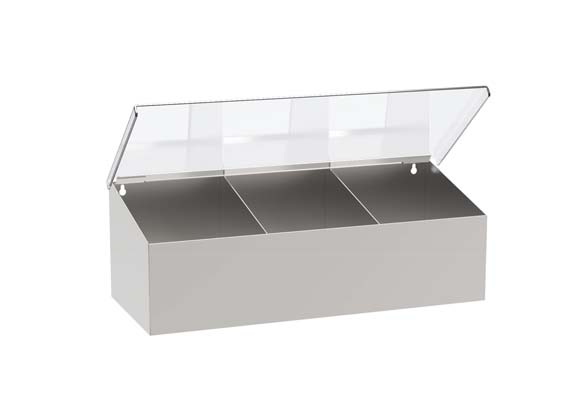 Dispenser inox con coperchio in lexan