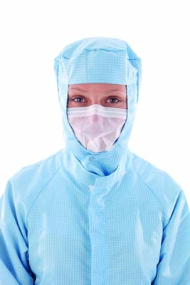 BIOCLEAN SOFTFLOW™ - Non-sterile face veil with headloop