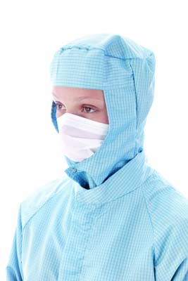 BIOCLEAN MICROFLOW™ - Non-sterile face veil with headloop