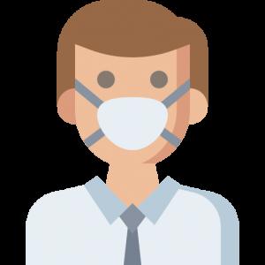 Persona con mascherina